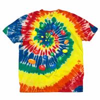 m&m's tyedye t-shirt 🟡 size XXL