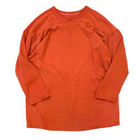 70's〜 RUSSELL SOLID FOOT BALL SHIRT (ORANGE) size XL
