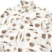 woolrich fishing pattern shirt size L