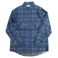 DEAD STOCK PRIVATE PROPERTY PRINT FLANNEL SHIRT MADE IN USA  size L