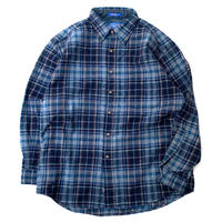 PENDLETON CHECK WOOL SHIRT MADE IN USA size L