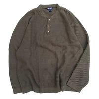 Henly Neck Cotton Knit size L