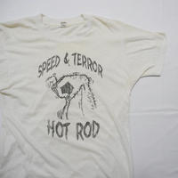 80s 'SPEED&TERROR'  HOT ROD T-shirt L