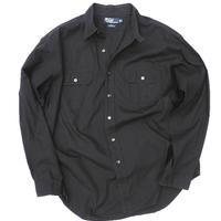 "Polo by Ralph Lauren  Black ""Rip Stop"" Shirt   SIZE-XL"