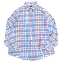 Par Four Check B.D Shirt Made in usa sizeXL