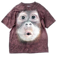 THE MOUNTAIN   MONKEY KISS TIEDYE T-shirt  size-XXL