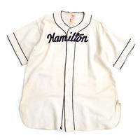 40-50's HAMILTON BASE BALL SHIRT size L程