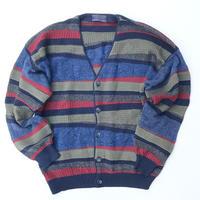 UMBERTO VALLATI Knit Patchwork Cardigan Size-L~XL