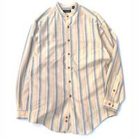 The J.Peterman Company Stand Collar Stripe Shirt size S