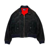 〜90's Polo Ralph Lauren Print Check Corduroy Jacket size L