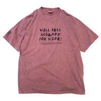 WINE DYED T-SHIRT size L