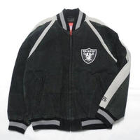 RAIDERS LEATHER STADIUM JACKET M