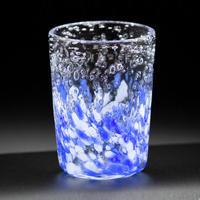 気泡の海 八角グラス(青砡)