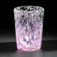 気泡の海 八角グラス(赤系) 全6色