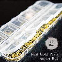 KiraNailネイルゴールドパーツアソートボックス