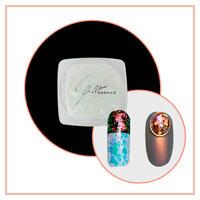 11月1日発売☆KiraNail Mercury Flake(Aurora Flake) ピンクオレンジオーロラNo.4(チップ付き)