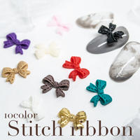 9月15日発売☆KiraNail ステッチリボン 10 COLOR