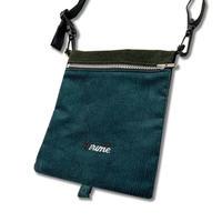 Corduroy  Folding Bag  <EMERALDxKHAKI>
