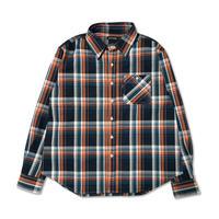 Plaid L/S Shirt (Blue x Orange)