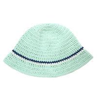 Knitting Hat <Light Mint x Navy x White>