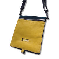 Corduroy  Folding Bag  <YELLOWxEMERALD>