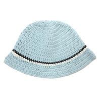 Knitting Hat <Baby Blue x Black x White>
