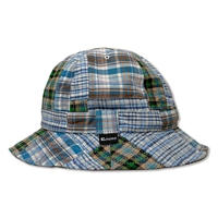 Skate Bell Hat    <L.Blue Plaid Patchwork>