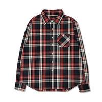 Plaid L/S Shirt (Red x D.Green)
