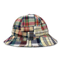 Skate Bell Hat    <Red/Navy Plaid Patchwork>