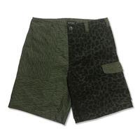 Mix Short Pants <Leopard x Rain Camo>