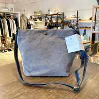 TAMPICO (タンピコ) SHOULDER BAG cotton stone wash col.SILEX