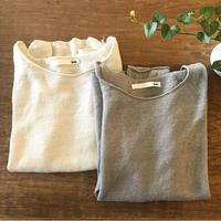 evameva  (エバムエバ) washable linen raglan pullover