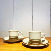 ヴィンテージARABIA Pirtti(ピルティ) コーヒーカップ&ソーサー