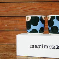 marimekko UNIKKO コーヒーカップセット(ラテマグ)ライトブルー×ピーチ