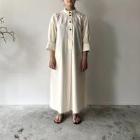 STUDIO NICHOLSON - KNOLL SHIRT DRESS (MILK)