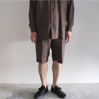 POSTELEGANT / Linen Short Pants ・Brown
