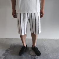 POSTELEGANT/ Linen Short Pants ・White