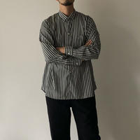 STUDIO NICHOLSON / HINKO BROAD STRIPE OVERSIZED SHIRT