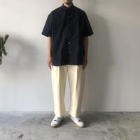 STUDIO NICHOLSON / SORTE - PEACHED COTTON TWILL VOLUME PANTS (CREAM)