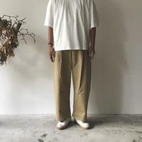 STUDIO NICHOLSON / SORTE PEACHED COTTON TWILL VOLUME OLEAT PANTS (TAN)