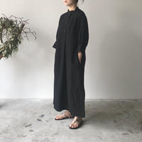 STUDIO NICHOLSON / KNOLL - SHIRT DRESS (BLACK)