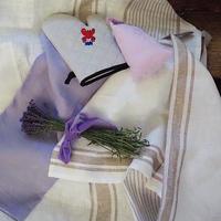 Webマガジン夏号・「リネンボックス」(ベージュ/ピンクのサシェ)