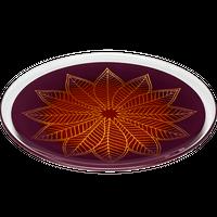 葉輪(hawa)プレート L 紫朱