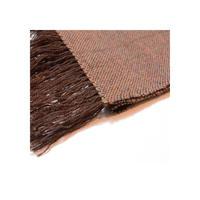 手織りストール(茶ツイード)