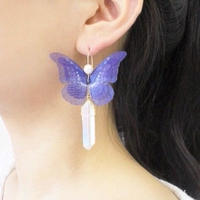 【FayFay】メンヒルピアス(イヤリング)・ヘレナモルフォ蝶