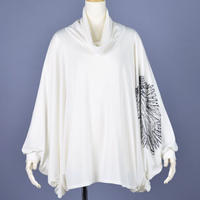 【h.NAOTO】Angel Cape sleeve tunic/CNF29-T169 WH/F