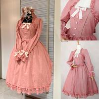 【Victorian maiden】ローズレースエレガントロングドレス/コーラル