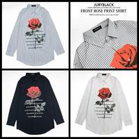 【JURY BLACK 】フロントローズプリントシャツ(12023261003)
