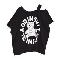 【HELL CAT PUNKS】ワンショルダーオープンTシャツ(HCP-T-0115)