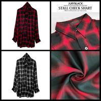 【JURY BLACK 】ストール付きチェックシャツ(12022261001)